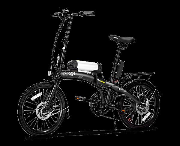 bicicleta elétrica dobrável Pliage Two Dogs cor preta