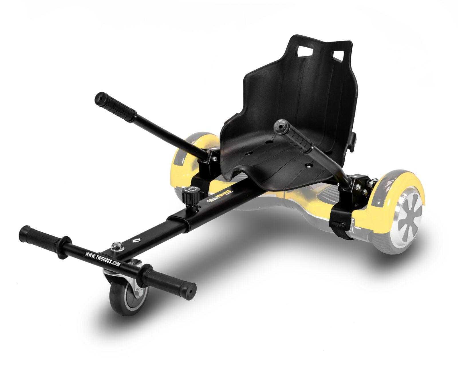 carrinho Go Kart para hovershoes cor preta da Two Dogs