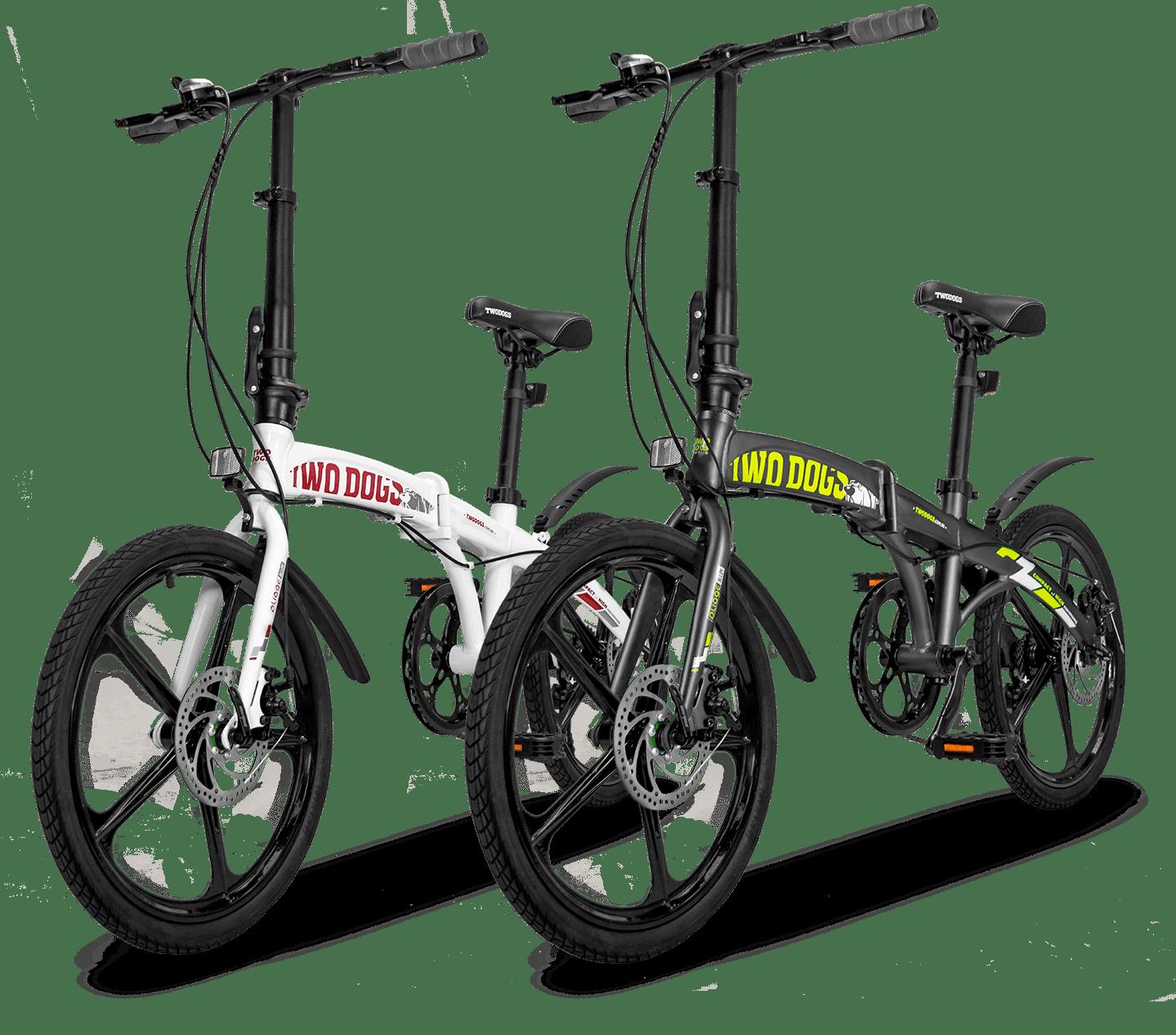 cores bicicleta dobrável alloy Two Dogs