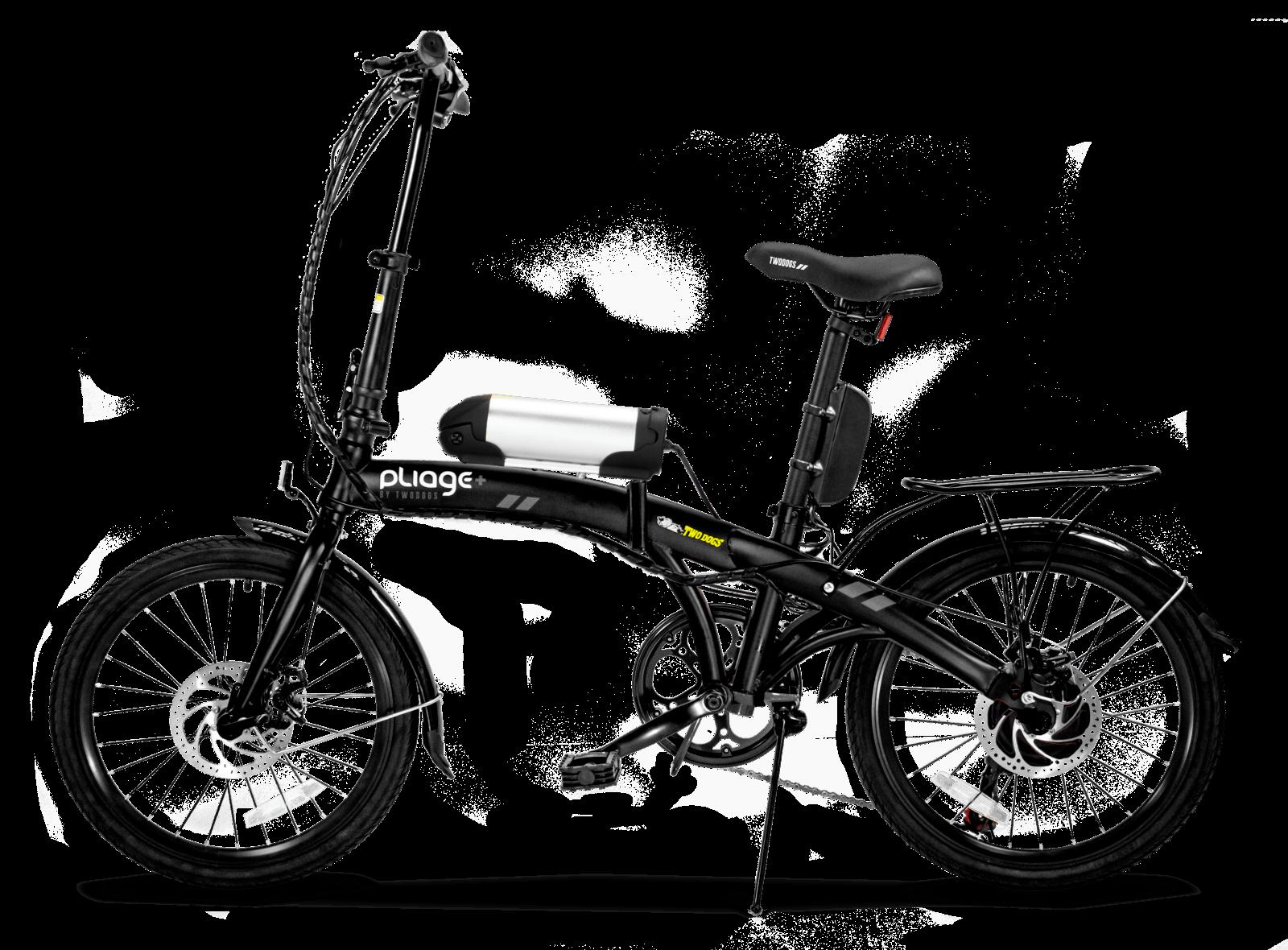 Bicicleta dobrável Pliage Elétrica Preta da Two Dogs
